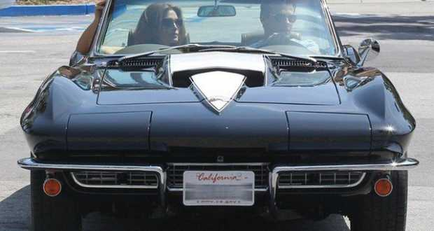 Cindy Crawford in a Corvette