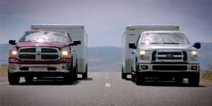 2015 Ford F-150 towing test against