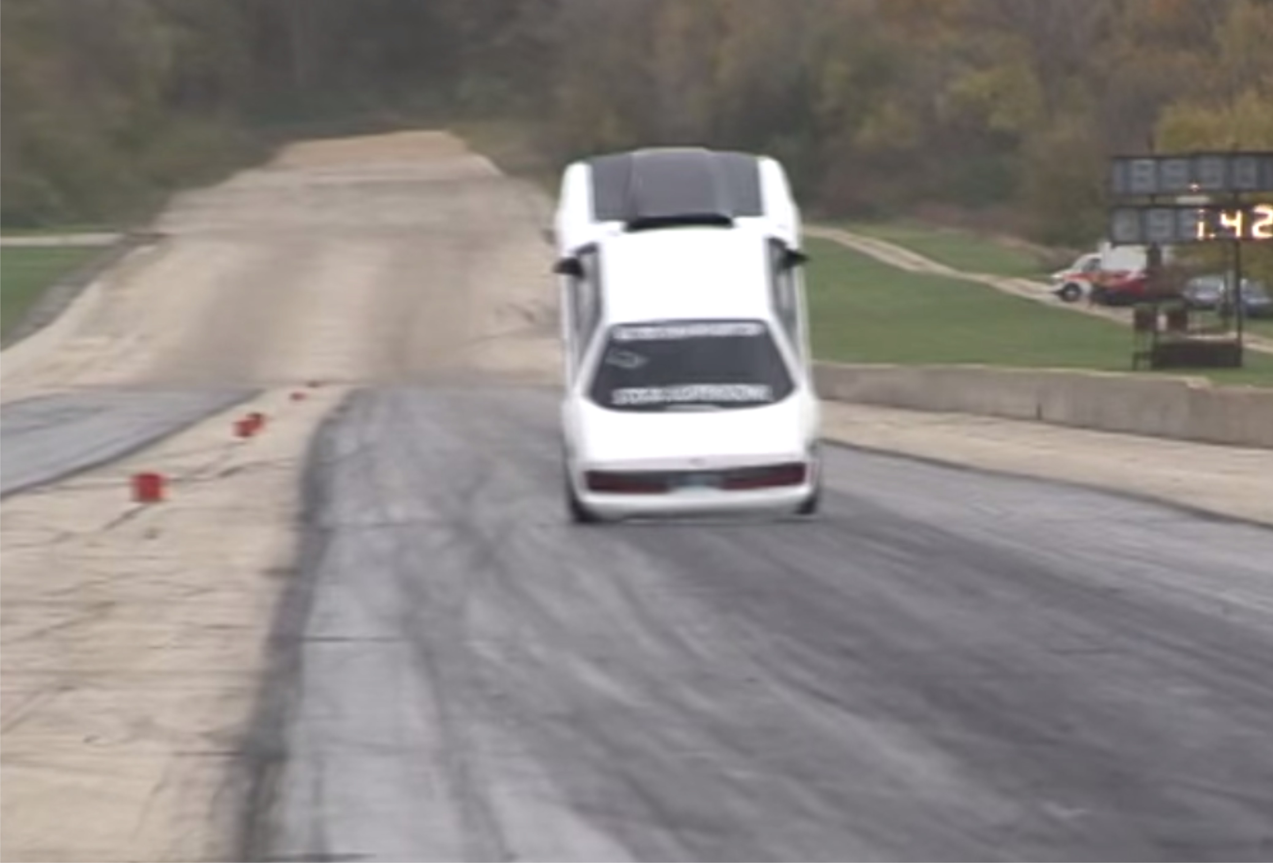 Ford Mustang Wheelstand Gone Wrong