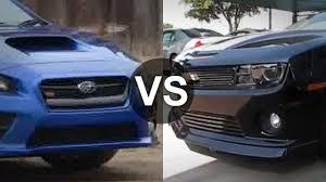 Camaro SS vs Subaru Impreza WRX STI