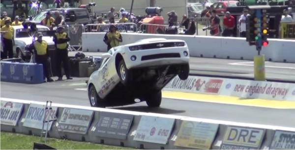 Camaro Bumper Dragging 200' Wheelstand