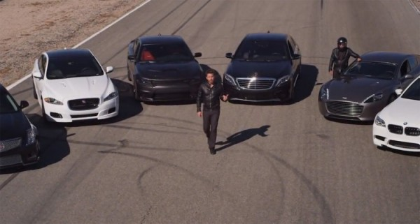Dodge Charger SRT Hellcat vs BMW M5 vs Mercedes S65 vs Jaguar XJR