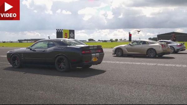 Hellcat vs Porsche vs Nissan