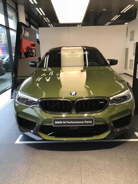 Bmw M5 In Urban Green Color Yes Or No Top Hot Cars